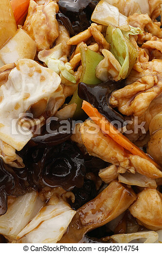 Chinese food. Chicken with vegetables - csp42014754