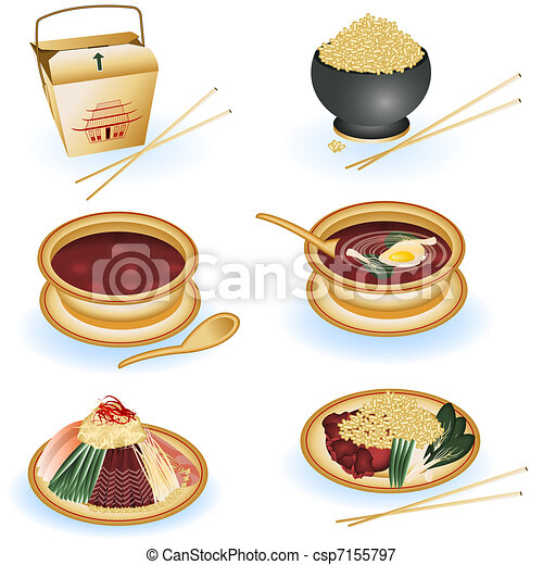 Chinese food collection - csp7155797