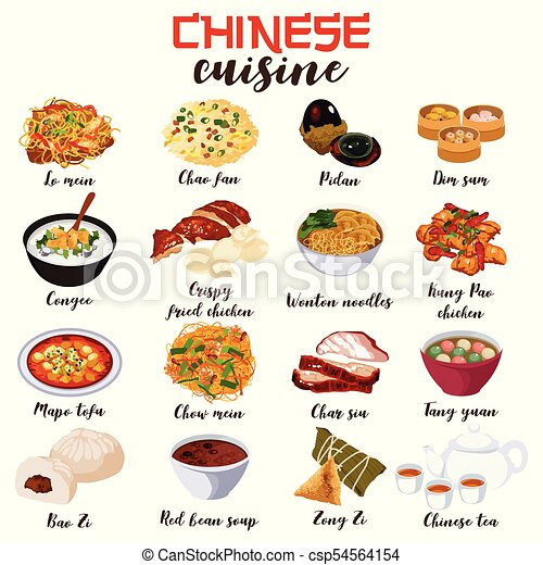 chinese food cuisine illustration a vector illustration of chinese rh canstockphoto com chinese restaurant clipart chinese food clipart free