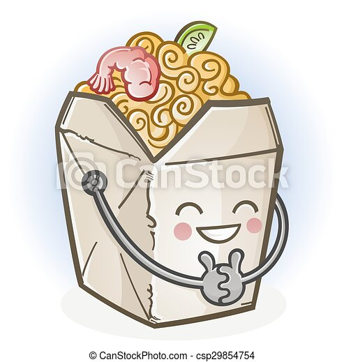 chinese food take out box cartoon a cheerful chinese food carry out rh canstockphoto com chinese food cartoon wallpaper chinese food cartoon pic