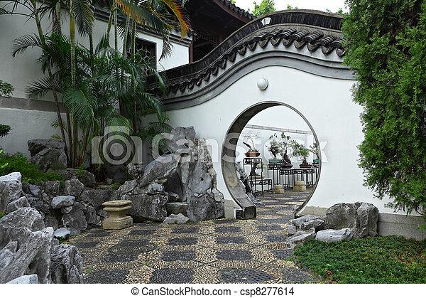 chinese garden - csp8277614