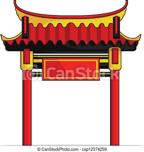 a vector image of a chinese gate this vector is very good Free Chinese New Year Graphics chinese new year clipart free download