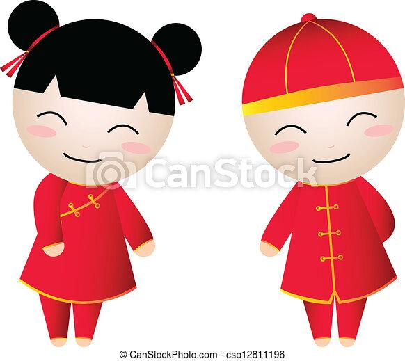 chinese girl-boy  - csp12811196