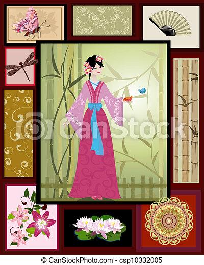 Chinese girl national patterns - csp10332005