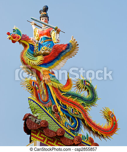Chinese god carving - csp2855857