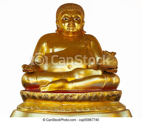 Chinese Golden Buddha Statue - csp55967740
