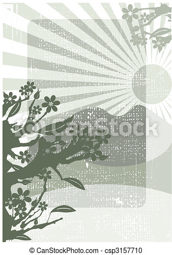 Chinese grunge background - csp3157710