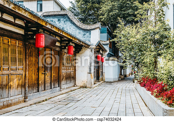 Chinese historic architecture - csp74032424
