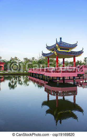 chinese historic building - csp19169820