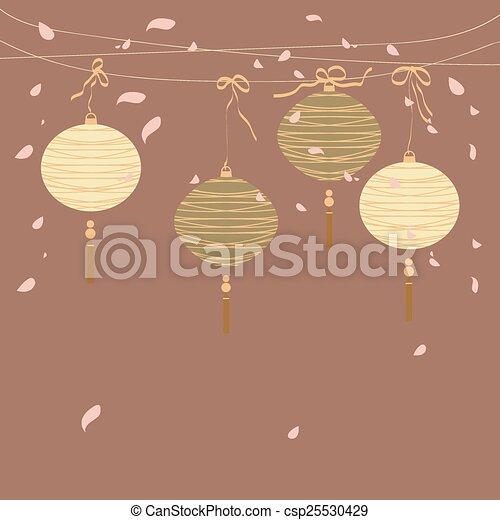 Chinese Lantern Background Vector Illustration