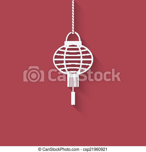 chinese lantern design element vector illustration eps 10