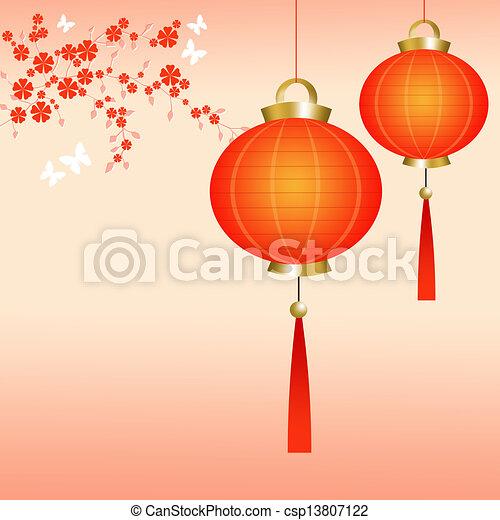 Chinese lanterns - csp13807122