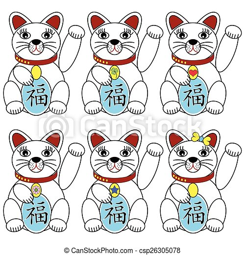 Chinese lucky cat  - csp26305078