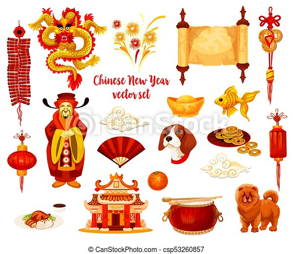 chinese lunar new year holiday icon design chinese new year rh canstockphoto com chinese new year clip art 2017 free chinese new year clipart 2018