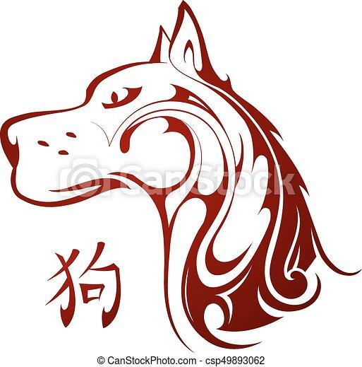 Chinese New Year 2018 Dog horoscope symbol - csp49893062