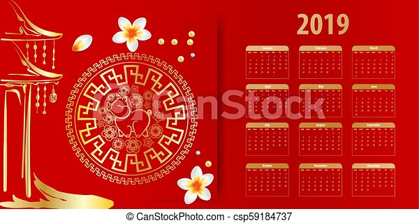 chinese new year calendar 2019 csp59184737