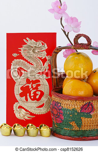 Chinese new year decoration - csp8152626