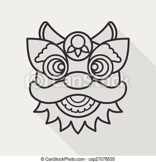 dragon head flat icon vector clip art eps images 876 dragon head