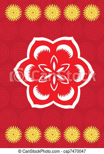Chinese new year flower pattern - csp7470047