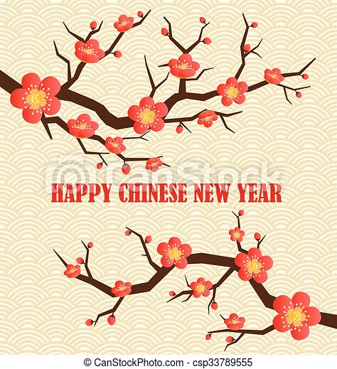 Chinese new year greeting card. vector illustration. clipart vector ...