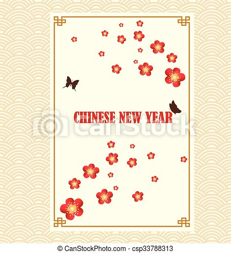 Chinese new year greeting card. vector illustration. vector clip art ...