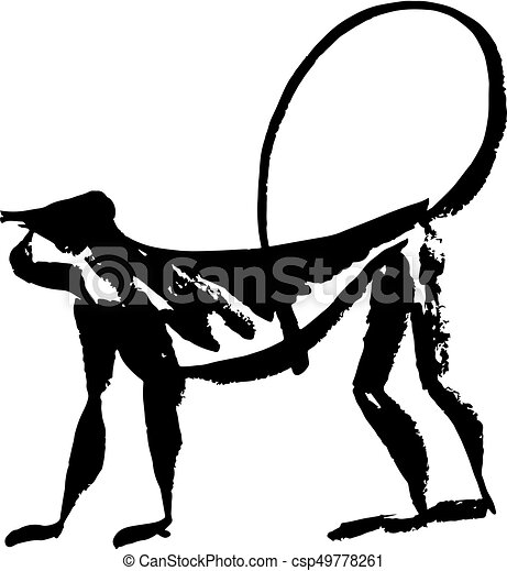 chinese new year monkey vector illustration 2016 new year clip rh canstockphoto com  chinese new year dragon clipart black and white
