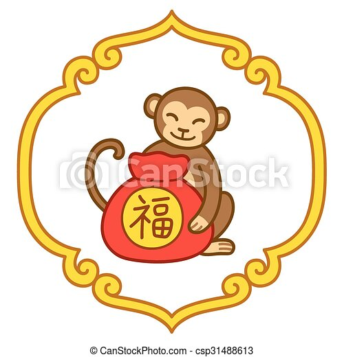 chinese new year monkey csp31488613