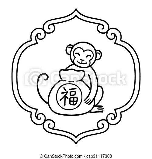 chinese new year monkey csp31117308