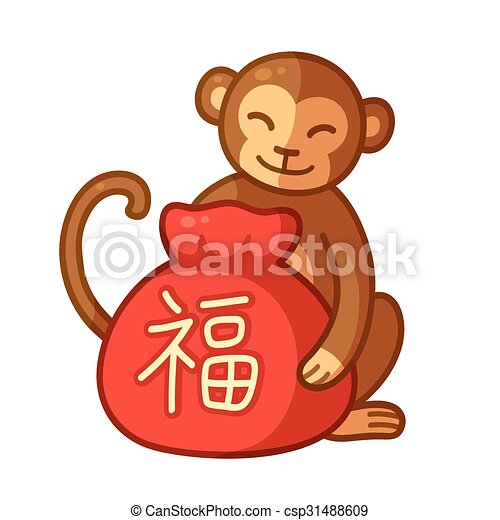 chinese new year monkey csp31488609