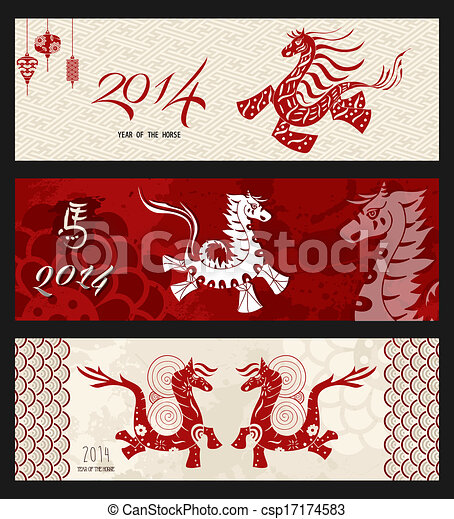 Chinese New Year of the Horse - csp17174583