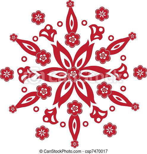 Chinese New Year Pattern Chinese New Year Flower Pattern