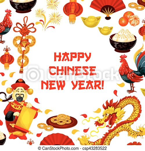 Chinese new year poster for greeting card design chinese new year chinese new year poster for greeting card design csp43283522 m4hsunfo