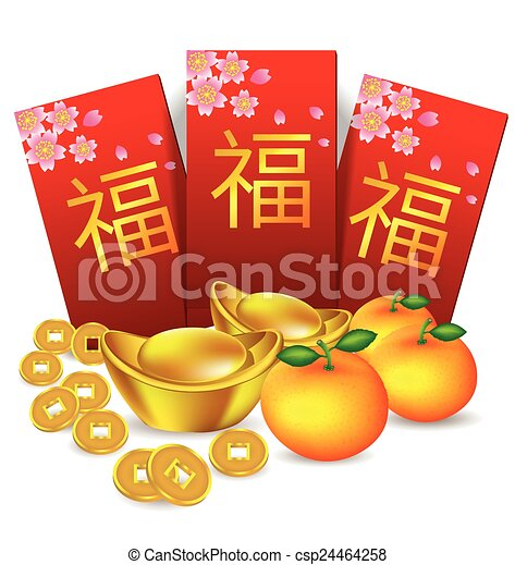 chinese new year red packet and decoration chinese new year rh canstockphoto com chinese new year 2017 clipart chinese new year 2017 clipart free