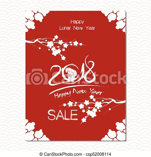 chinese new year sale design template the year of dog chinese