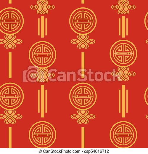 chinese new year wallpaper seamless pattern background csp54016712