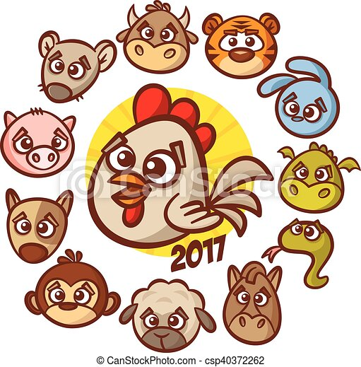 chinese new year zodiac animal horoscope vector clipart clip art rh canstockphoto ca zodiac clipart symbols zodiac clip art free