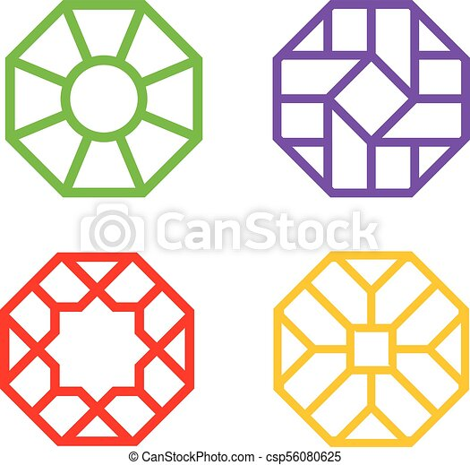 chinese octagon window frame with islamic pattern vector vector rh canstockphoto com islamic vector free download islamic vector psd