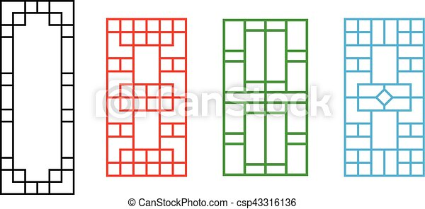 Chinese Fence Design Chinese ornament for door window wall and fence vector vectors chinese ornament for door window wall and fence csp43316136 workwithnaturefo