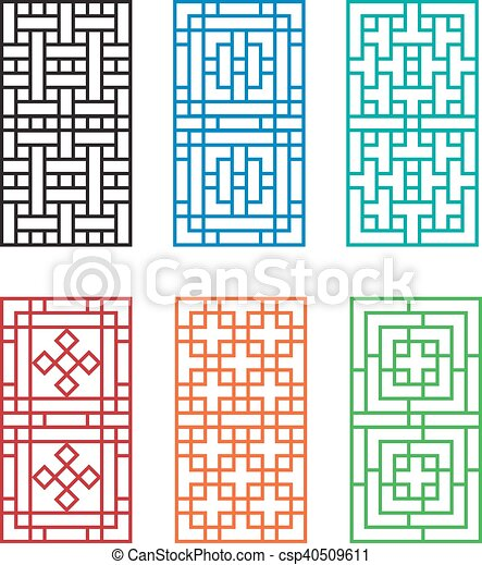 Chinese Fence Design Chinese ornament for door window wall and fence vector vector chinese ornament for door window wall and fence csp40509611 workwithnaturefo