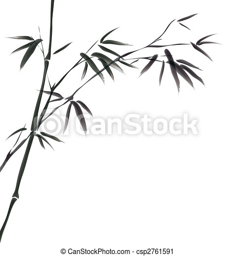 chinese painting of bamboo - csp2761591