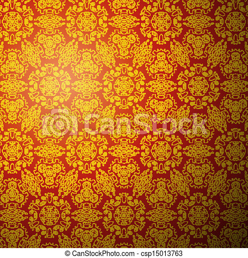 Chinese Pattern Background Seamless Wallpaper
