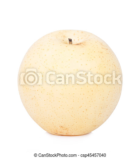 Chinese pear isolated on white background - csp45457040