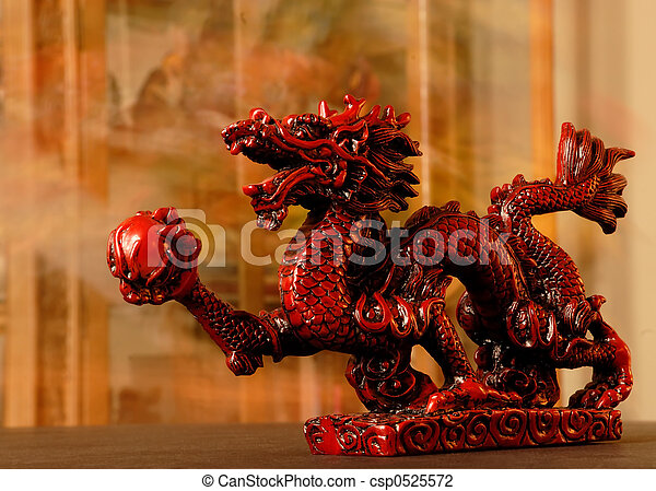 Chinese Red Dragon - csp0525572