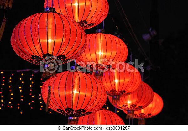Chinese red lanterns - csp3001287