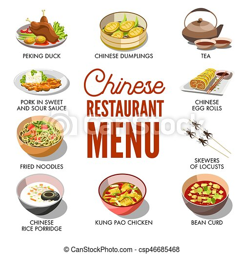 chinese restaurant menu cover vector template design chinese