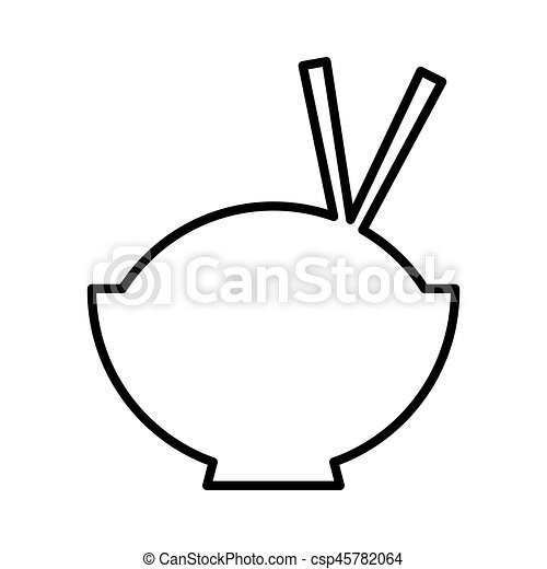 chinese rice food icon vector illustration design clip art vector rh canstockphoto com chinese restaurant clipart free chinese food clipart black and white