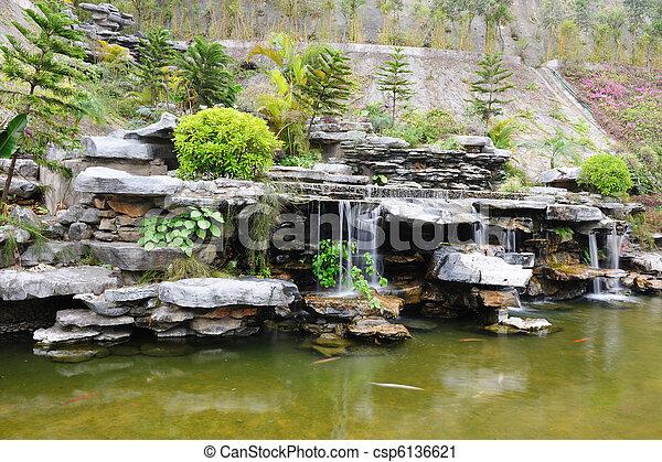 Chinese rockery garden - csp6136621