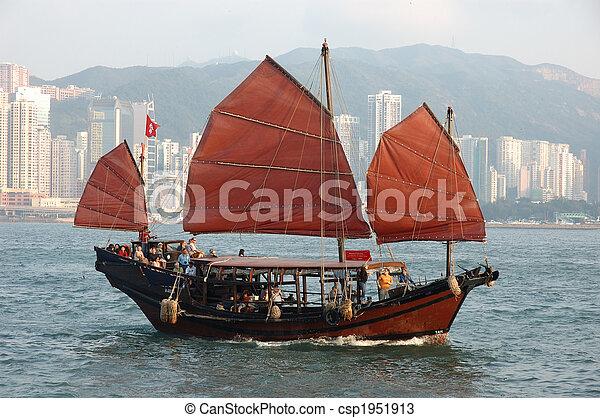 Chinese sailing ship - csp1951913