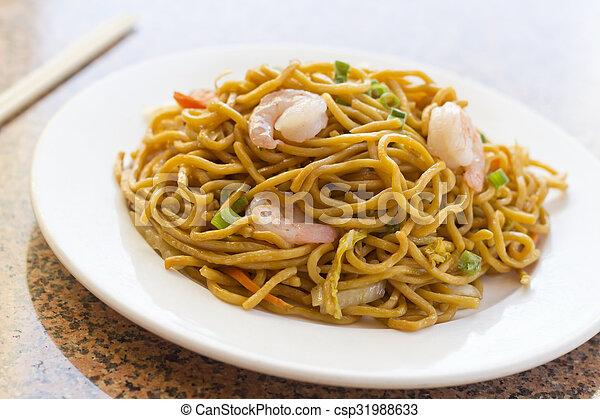 Chinese Shrimp Lo Mein - csp31988633