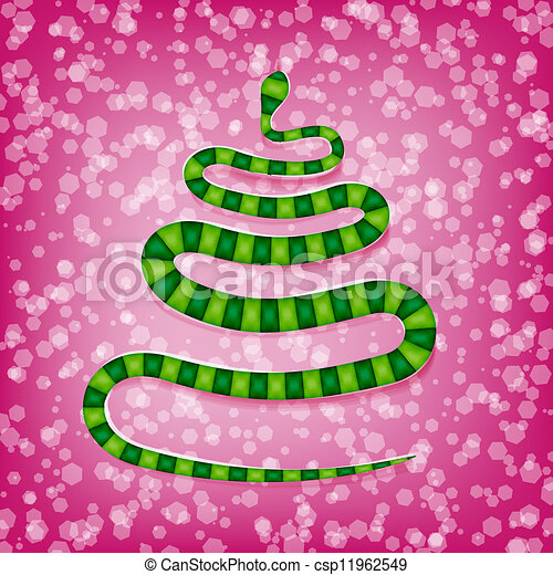 Chinese snake symbol of the new year - csp11962549